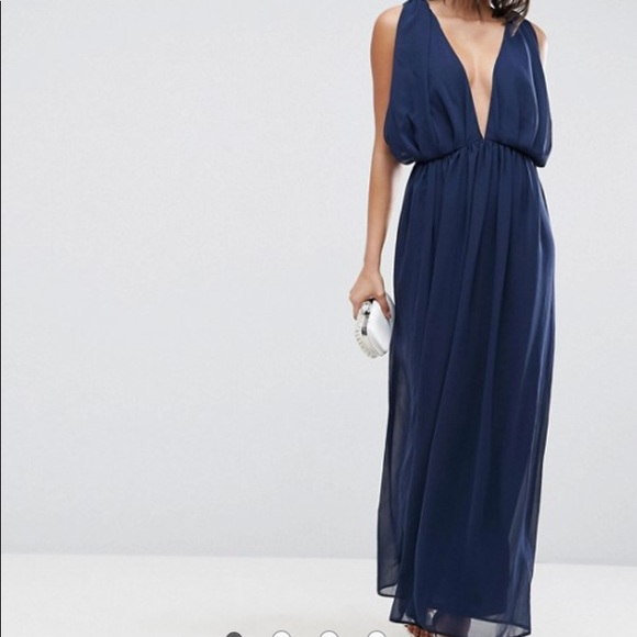 9fd01af82b0 Brand new with tags navy blue gown ASOS Size 12.